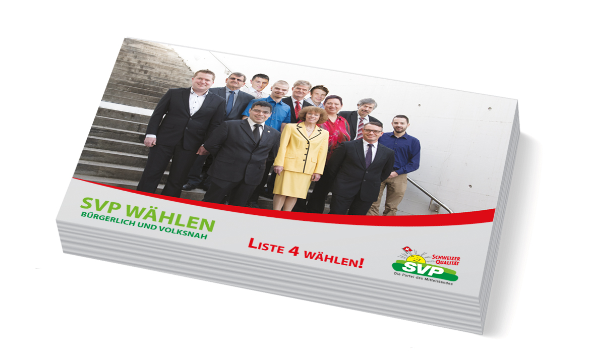 SVP See Gaser Kantonsrats-Wahlkampf Diagonal marketingagentur.ch