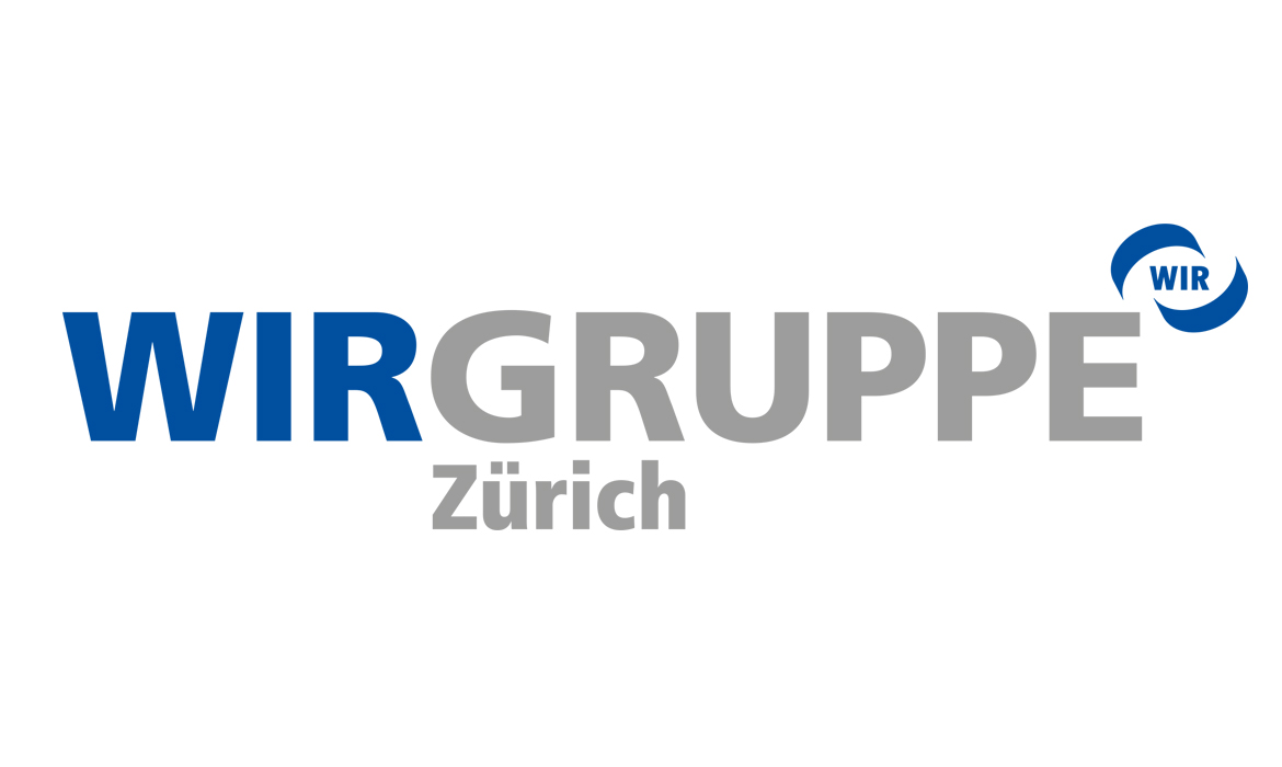 WIR Gruppe Zürich - Logo - marketingagentur.ch Diagonal