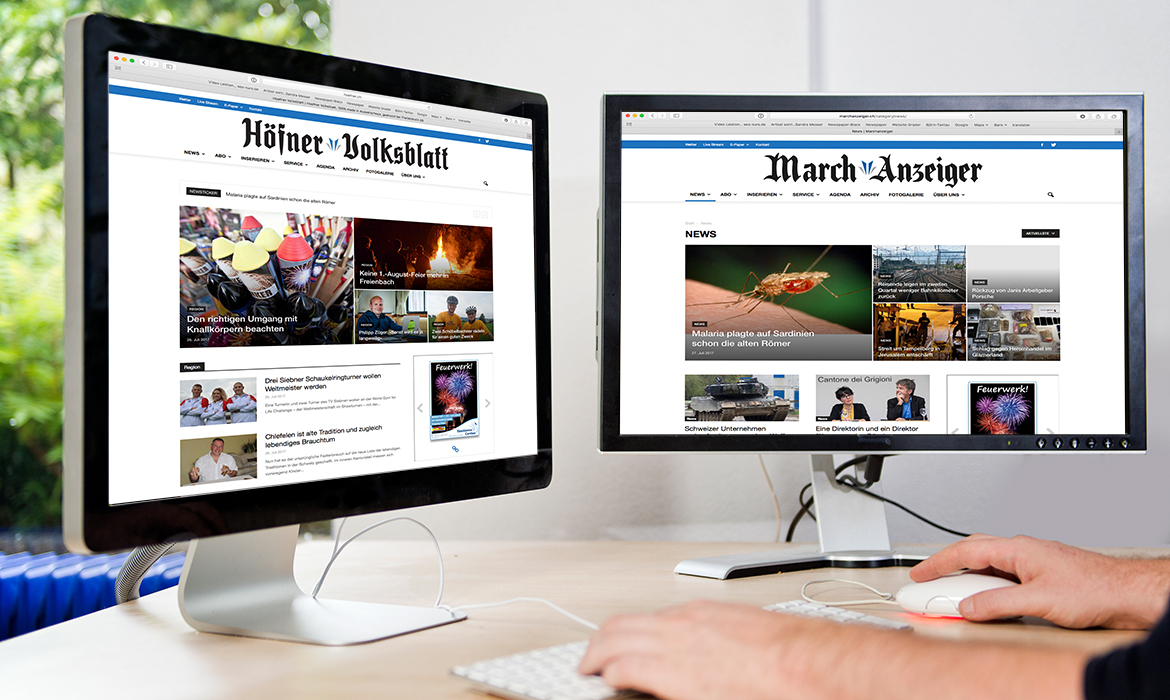 Höfner Volksblatt, Marchanzeiger, Diagonal, marketingagentur.ch