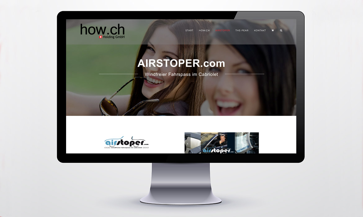how.ch, airstoper.com - diagonal marketingagentur.ch